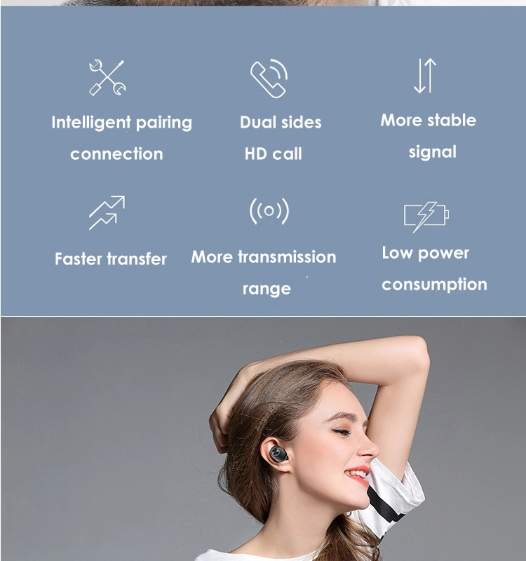 hot products 2019 amazon New Arrival TWS V6 bluetooth earphone wireless Bluetooth 5.0 super bass in-ear wireless headphone