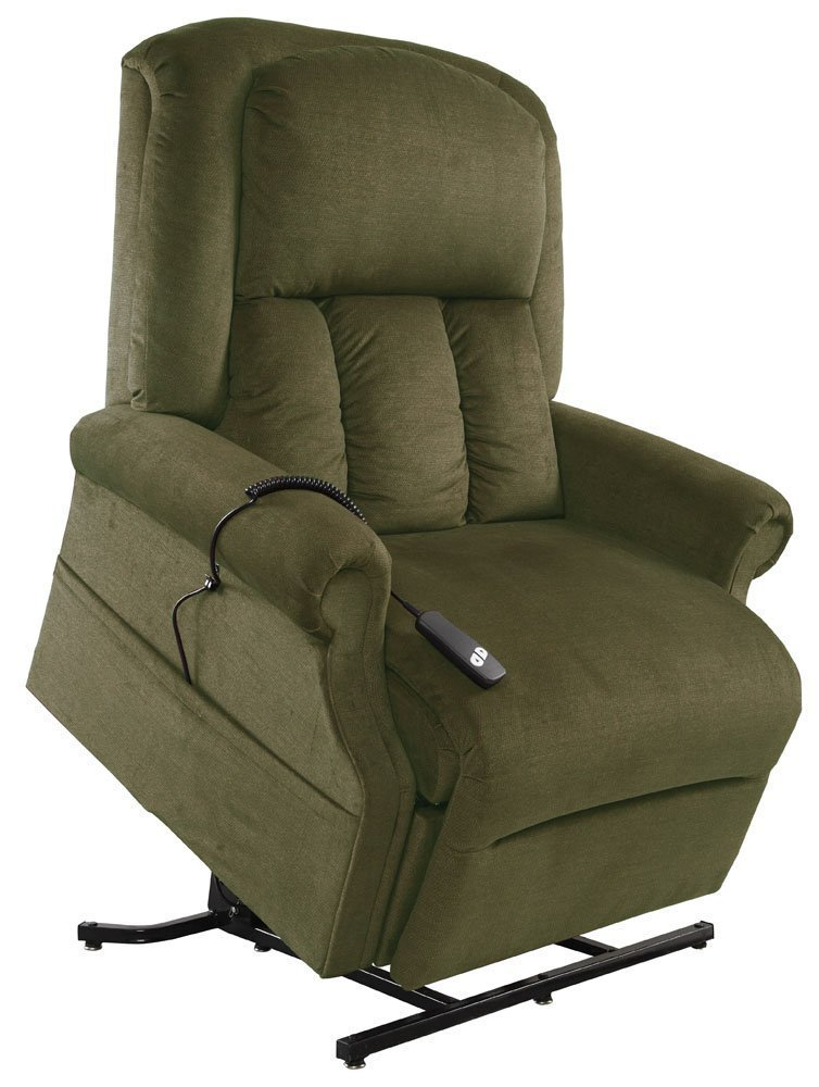 Mega Motion Easy Comfort Superior 3 Position Heavy Duty Big Lift Chair 500 lb capacity Chaise Lounge Recliner - Forest Green Fabric