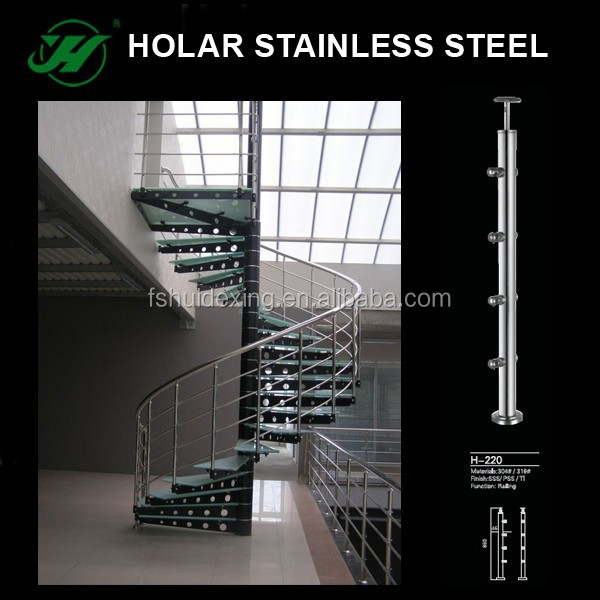 Foshan Holar stainless steel spiral stair with cover