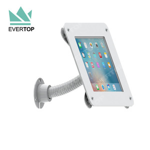LSW04-B 7.9-10.5 inch Acrylic Flexible gooseneck tube wall mounted tablet enclosure for ipad/android/Samsung Full Motion