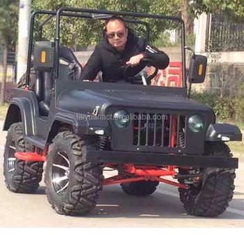 Adult Jeep 200cc Gy6 Engine Auto Clutch Mini Jeep Willys
