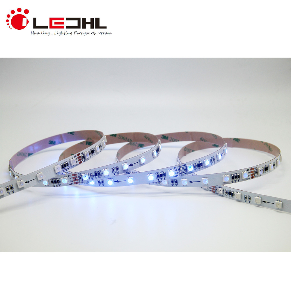 60 <strong>LEDs</strong>/m 10 pixels/m addressable RGB 24V DMX512 <strong>LED</strong> strip light