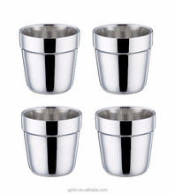 Dishwasher Safe 18/8 Stainless Steel Cups Mugs,Insulated Double Wall 6 Ounce Coffee Tea Drinks cup
