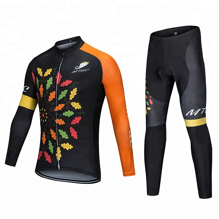 Mens Custom Mountainbike Sets Radfahren Jersey Langarm