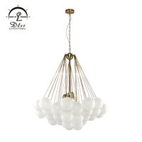 Zhongshan modern nordic classic kids bedroom iron glass led french chandeliers