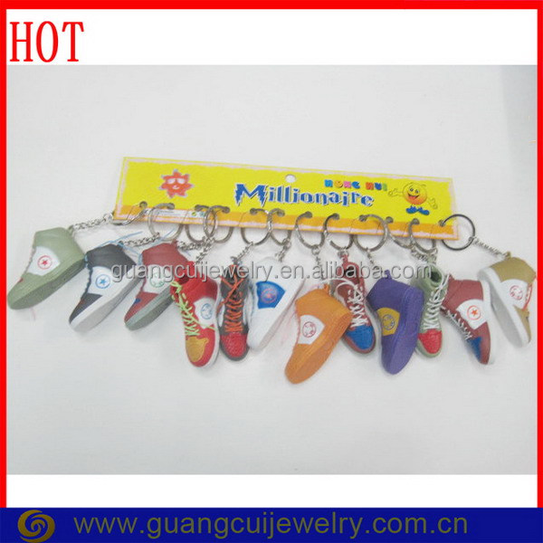 Customized pvc scoccer football shoes key chain keychain