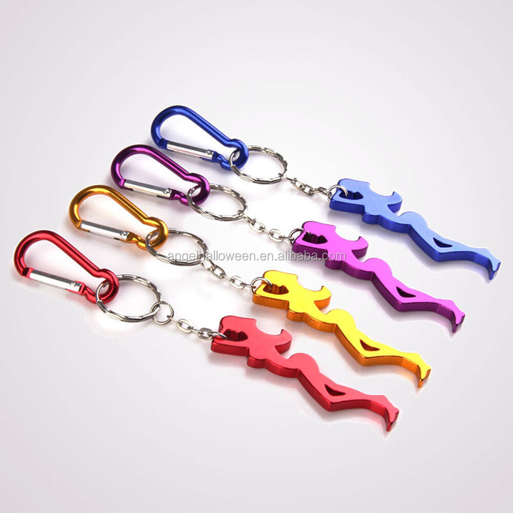 Nice Lady Shaped Aluminum Alloy Keychain Key Ring Ornaments Beer Bottle Opener BP6005