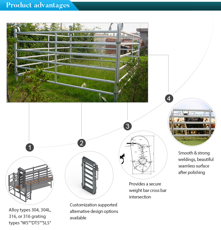 AS/NZS Steel Oval Rail Panel Cattle Panel for Livestock