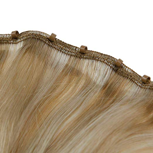 100% human hair extensions cuticle aligned remy high quality beaded weft
