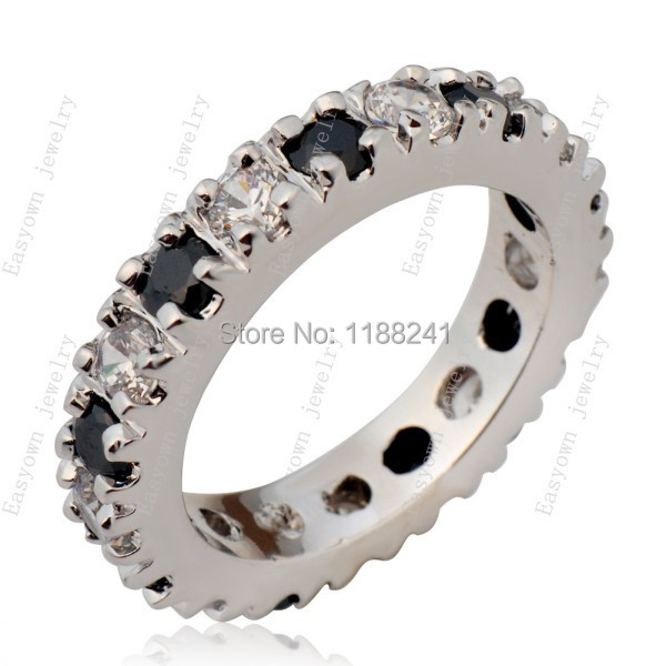 10ps/lot Size 5/6/7/8/9 Women Fashion Jewelry Finger Ring 10KT White Gold Filled Zircon Stone Rings Best Selling
