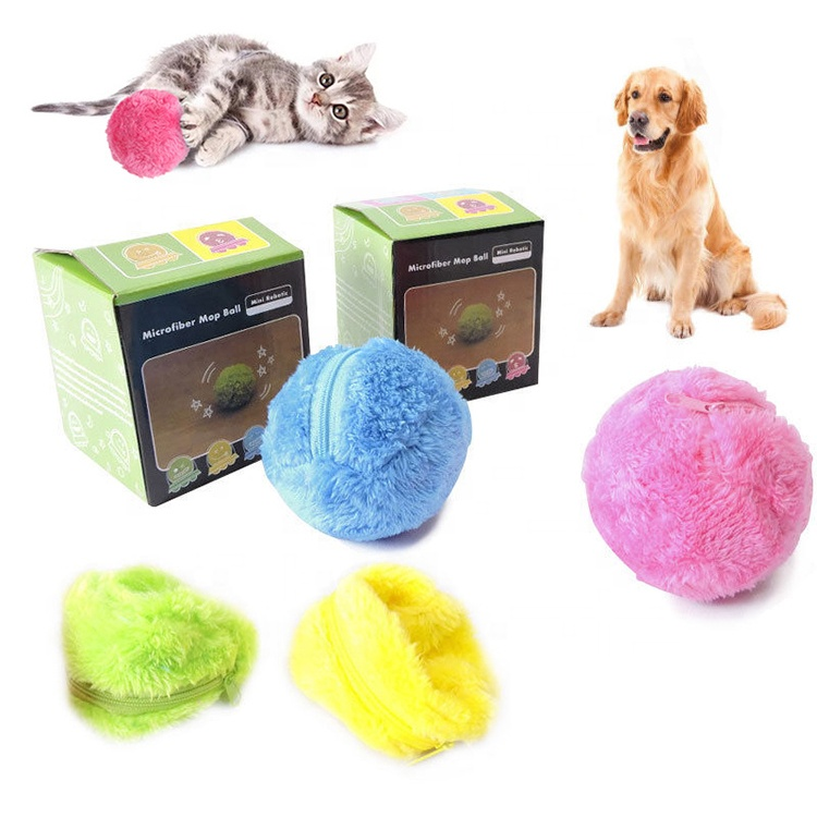 Roller Rolling Battery Operated Pet Electronic Automatic Magic Ball Dog Cat Toy for Ball