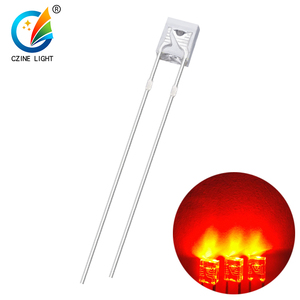 high brightness 2*3*4mm diode led red through hole led