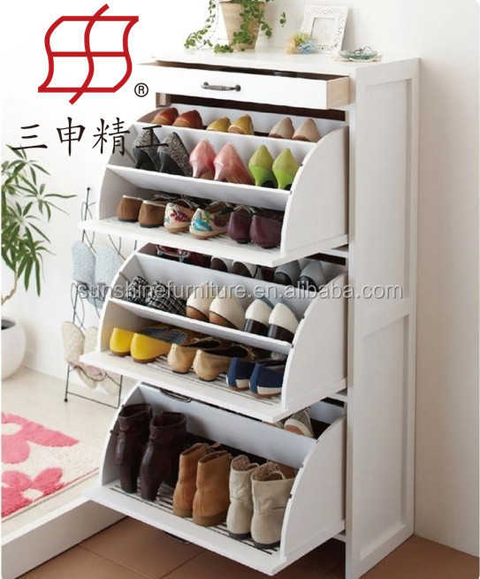 Beautiful Home Furniture New Design Wooden Round Shoe Rack/round Shoe Cabinet