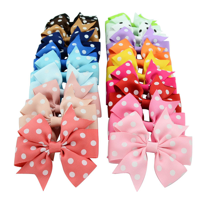 912aedc38a69 Get Quotations · 40pcs lot DIY 3 inch Grosgrain Ribbon Hairbows Baby Girls  Hair  Accessories With Clip