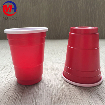 Small 2oz plastic red solo party cup