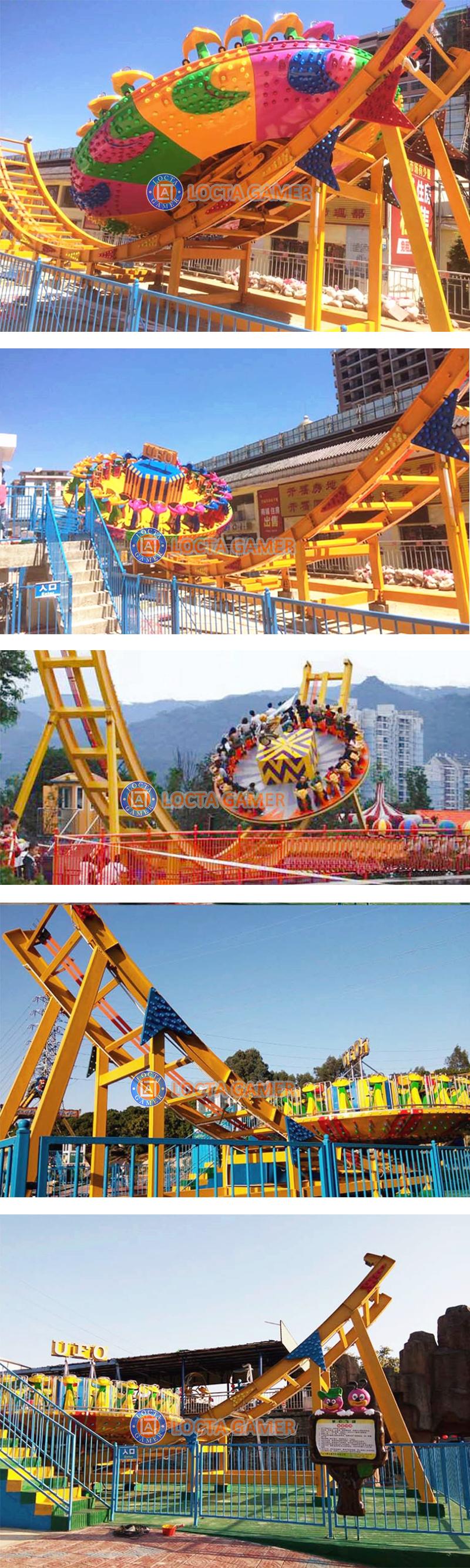 Zhongshan फ्रिसबी सवारी उड़ान यूएफओ परिक्रामी जादू मोड़ डिस्को के लिए funfair सवारी आनंदोत्सव के खेल मनोरंजन उपकरण