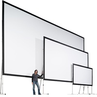 "150"" HD fast fold projection screen with dress kits"
