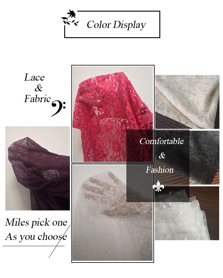 Svizzero del merletto della maglia Del Ricamo Del voile Tessuto di organza per abito da sposa