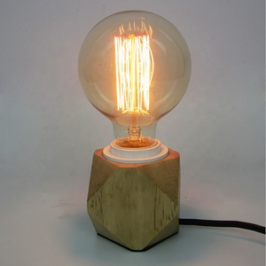 Wooden Base Table Lamp Office Desk Reading Table Lamp Electric Power Source Table Lamp