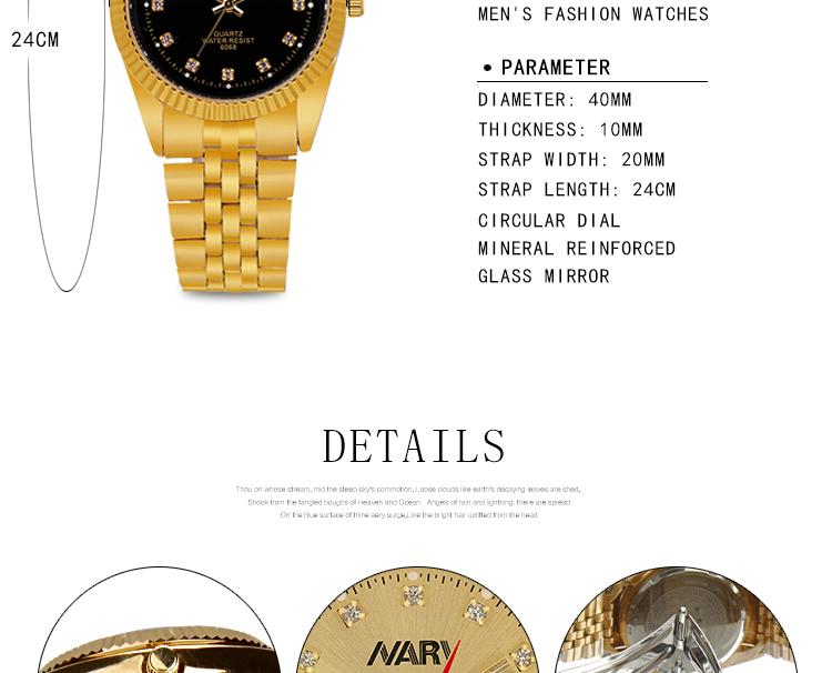 Nary 6068 Quartz Montres Mâle Horloge Homme Montre De Mode Montre Étanche Hommes Célèbre Marque Nary Montre En Or Buy Montre Parlante