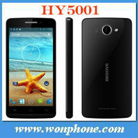 5 inch Bedove HY5001Quad core MTK6589 Android 4.2 3G Unlocked smartphone 1280 *720 RAM 1GB ROM 4GB
