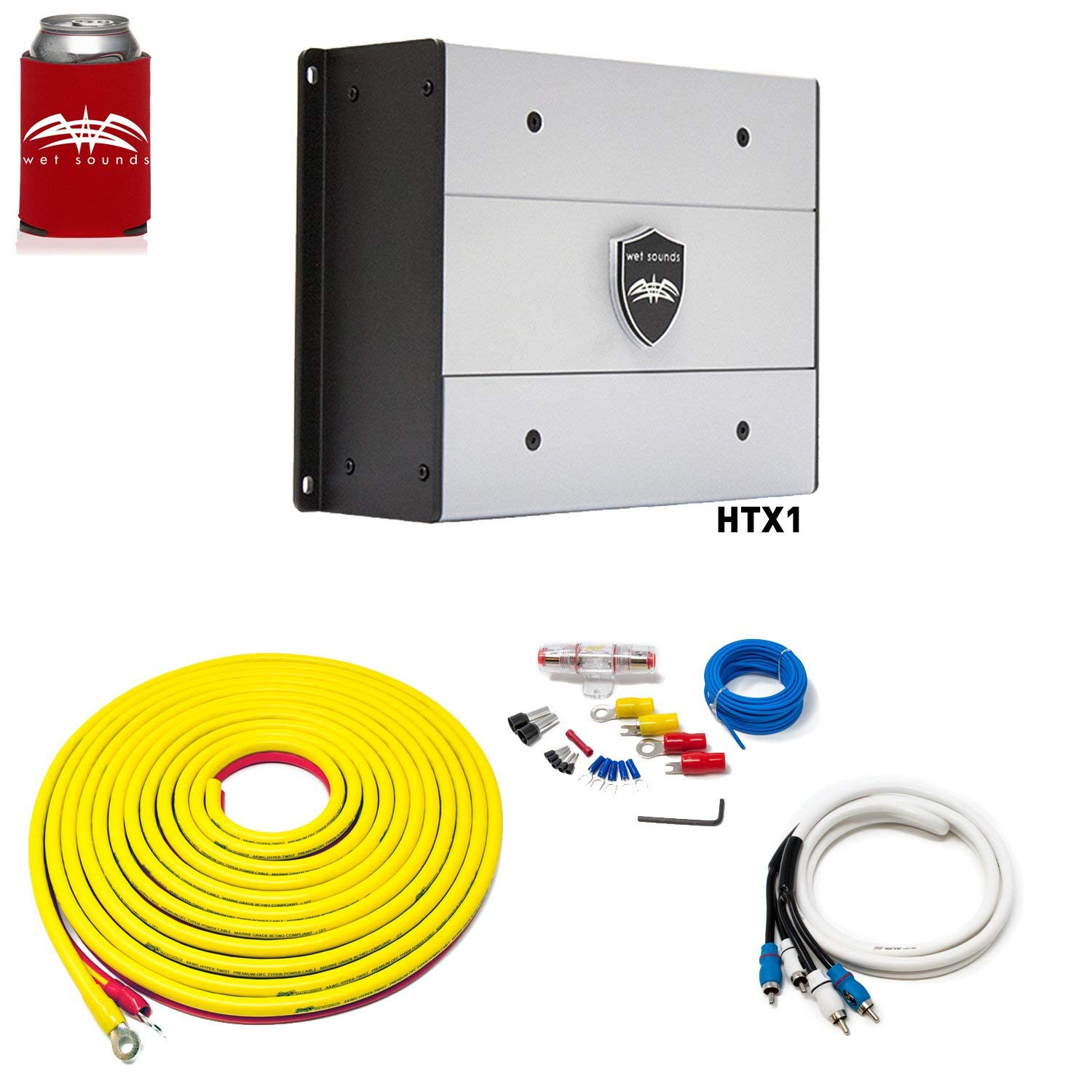 Cheap 100 Watt Amplifier Kit Find Deals On Complete 10 Awg Gauge Car Amp Wire Sub Subwoofer Wiring Installation Null Get Quotations Wet Sounds Htx1 Package 650 Stinger 7 Meter 4