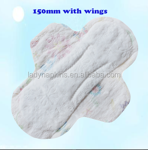 Ladies cotton top sheet sanitary napkin/sanitary pads /colorful panty liners