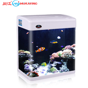 Minjiang New Mini Glass Fish Tank Table Tank