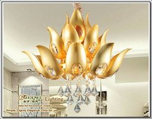 2012 distinctive designer pendant lamp, golden lotus chandelier
