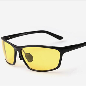 high quality yellow lens anti glare night vision driving glasses also 79% blue light blocking glasses with aluminum frame