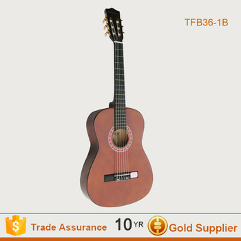 High Quality Brown Polished Acoustic Guitar