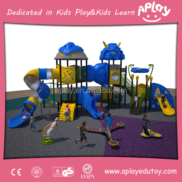 HALLO China best kids playground equipment customized outdoor playhouse big backyard playsets