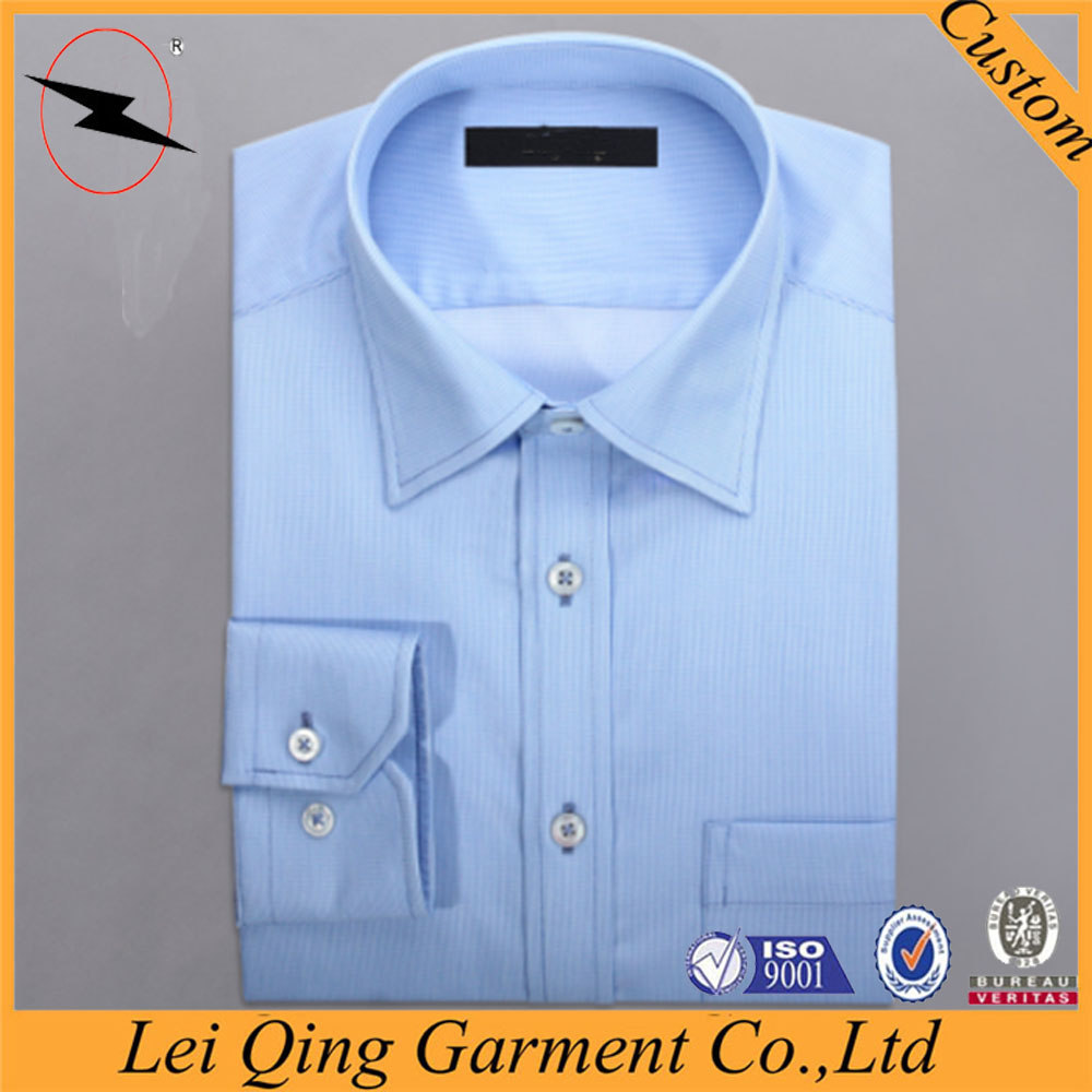Promotion Wholesale Cheap Long Point Collar Dress Shirts Packaging