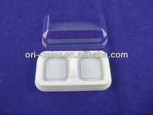Customized disposable PP white biscuit tray