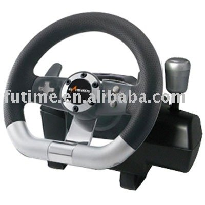 PC WIRED VIBRATION RACING CAR STEERING WHEEL