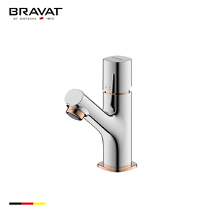 Solid brass vertical single lever basin water tap F1273308CP-RO