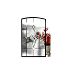 Colored Decorative Insulated Inlaid Beveled Glass Entry Door Inserts Panels