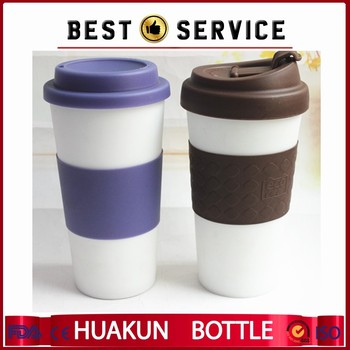 New 16oz Insulated Plastic Thermal Mug With Lid Silicone Travel Coffee Cup