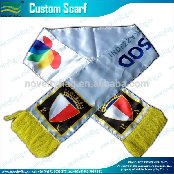 Wholesale gift Knitted Jacquard Football Team soccer fan scarf
