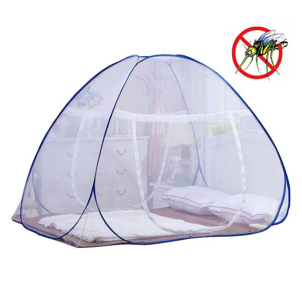 one touch moskitonetz f r bett faltbare jurte moskitonetz zelt net pop up f r baby erwachsene. Black Bedroom Furniture Sets. Home Design Ideas