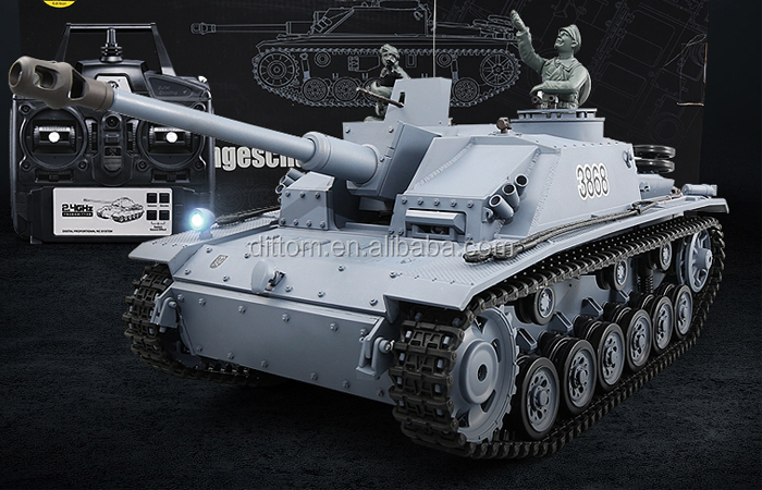 3868-1pro 1/16 2.4G Big Rc tank German Sturmgeschutz III F8 Type Antitank battle tank model