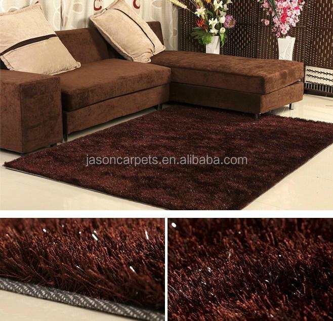 Tianjin tapijt fabriek Goud kleur 150D zijdeachtige polyester cut ...