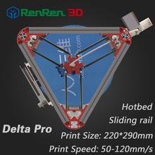 High Precision 3 D Delta 3D Printer Pro Auto Level  K800 Kossel Reprap Prusa 3D-Printer Machine Kit With Hot Bed Injection