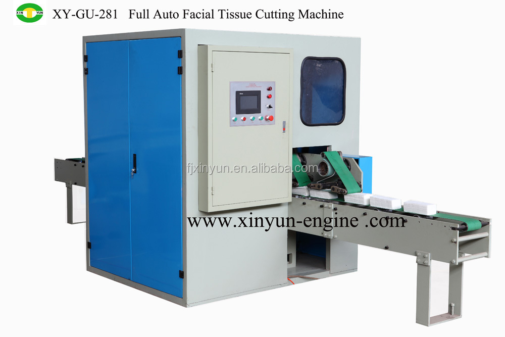Automatic facial tissue paper die cutter