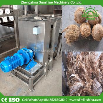 400-600pcs/h Old Coconut Fiber Remove Coconut Defibering Shredding Machine