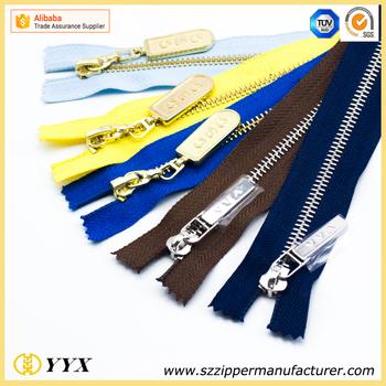 Personalized Zip Pull Pantone Color 5 Shiny Silver Luxury Zipper Buy Luxury Zipper Custom Made Zipper Pull Personalized Zipper Pulls Product On
