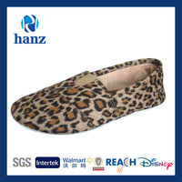 leopard picture china canvas shoes woman 2013