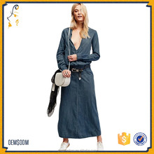 China new innovative product designer ladies denim jeans dresses