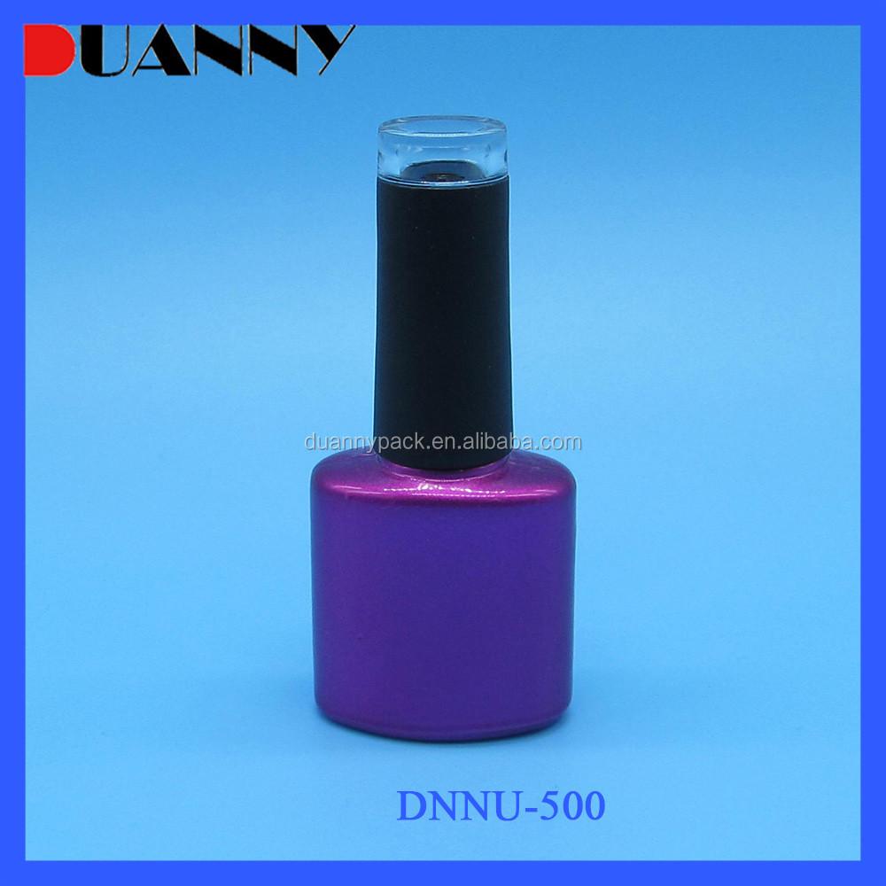 8ml 10ml Purple Glass Nail Polish Botttle With Black Cap ...