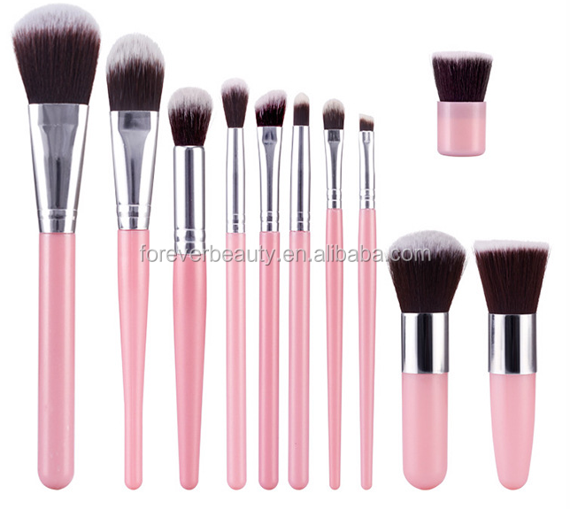 New hot selling products wholesale cosmetic tools professional makeup brushes set high quality 11 pieces brush for make up